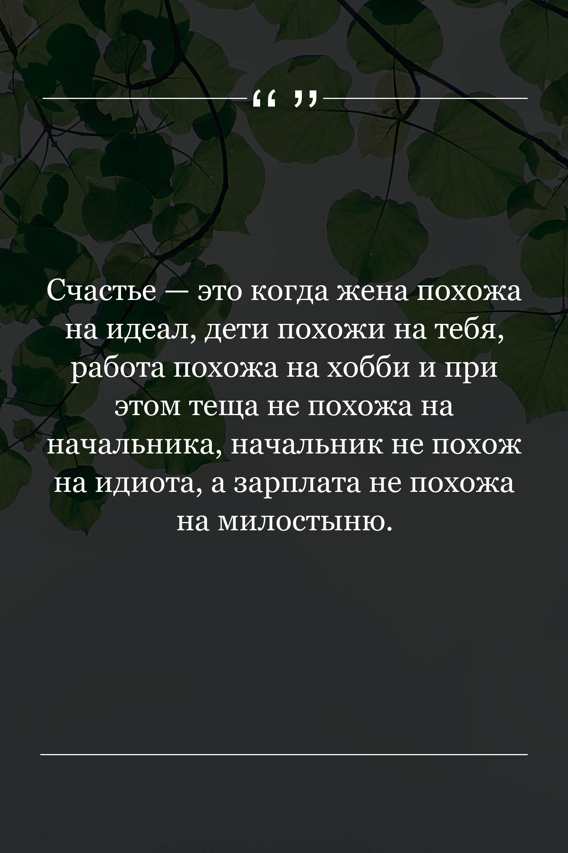 Счастье — это когда жена…